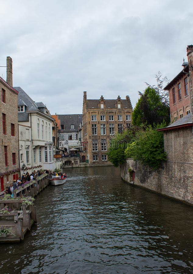 Canal de Bruges, Bélgica fotografia de stock royalty free