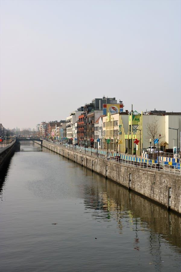 Canal de Bruselas fotografía de archivo