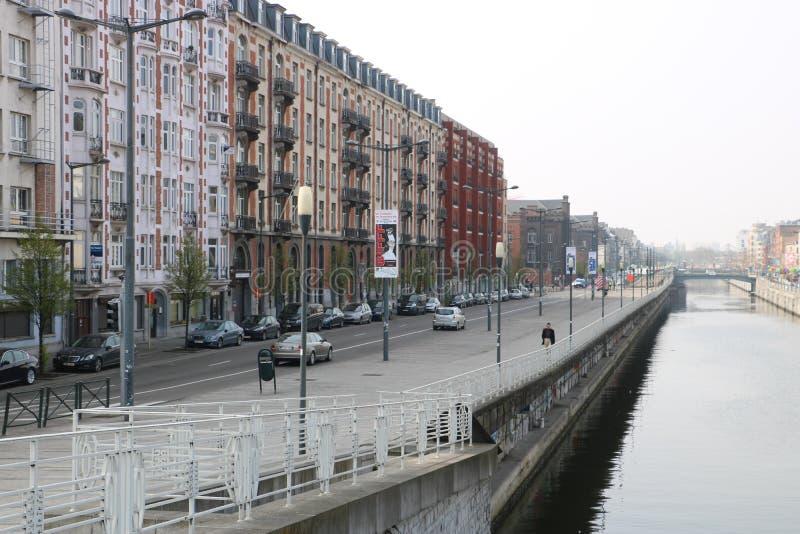 Canal de Bruselas foto de archivo