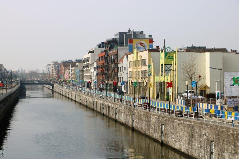 Canal de Bruselas foto de archivo libre de regalías
