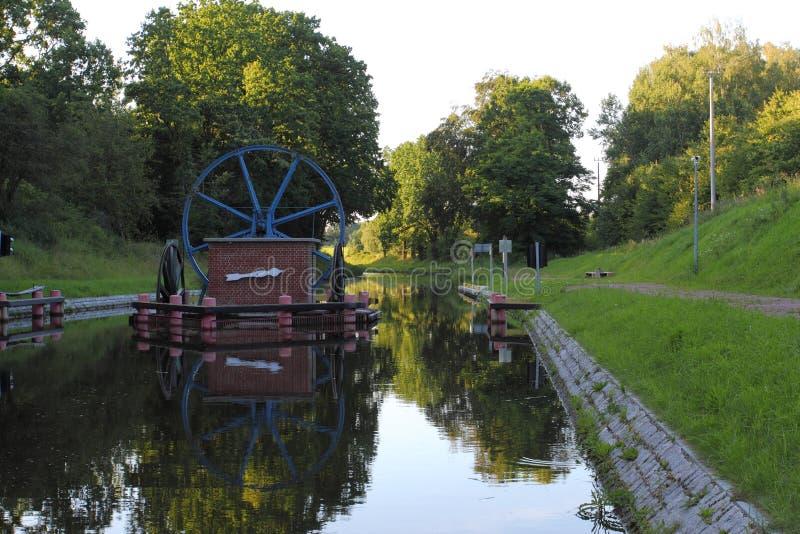 Canal de Buczyniec - de Elblag, navios transportados sobre montes, a solução excepcional no mundo inteiro imagem de stock royalty free