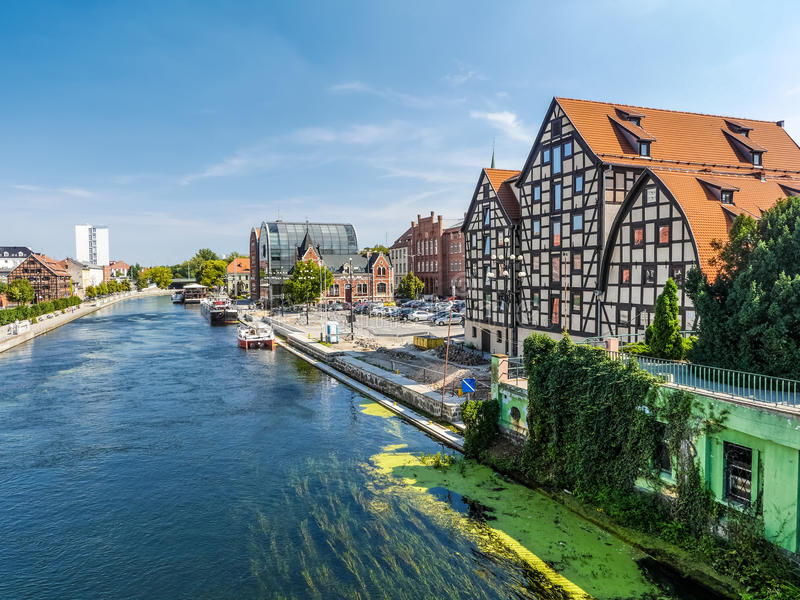 Canal de Bydgoszcz imagens de stock royalty free
