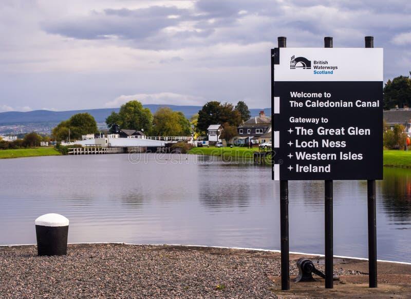 Canal de Calendonian, Ecosse images libres de droits