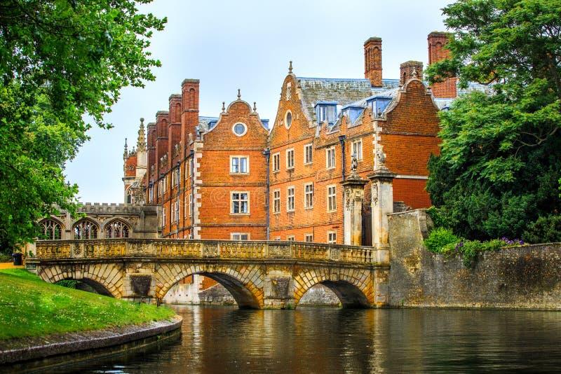 Canal de came à l'Université de Cambridge image libre de droits