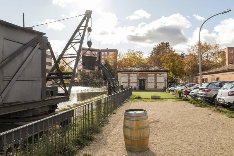 Canal de Castilla, Spanje stock afbeelding