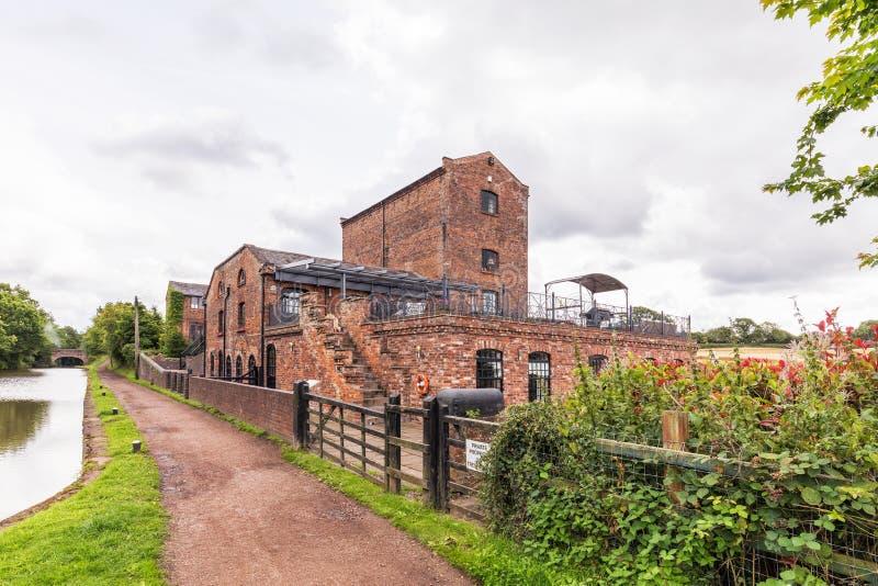 Canal de Chambre de moteur de Tardebigge, de Worcester et de Birmingham images libres de droits