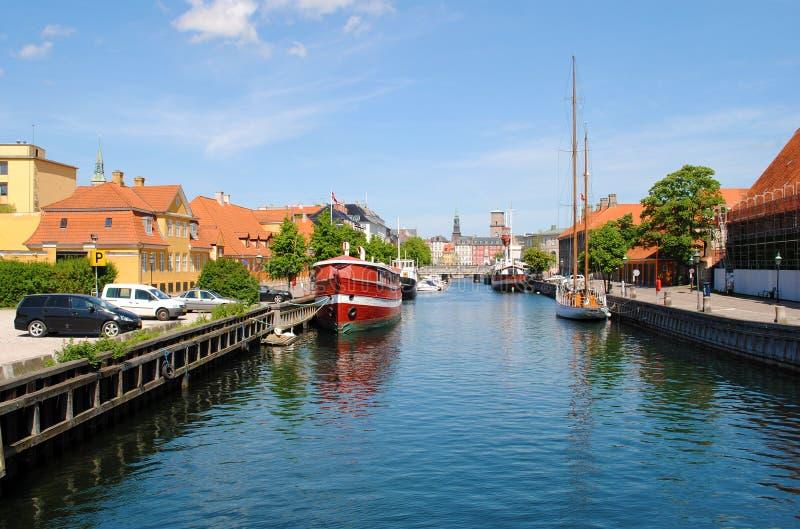 Canal de Copenhaga imagem de stock royalty free