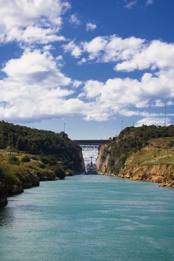 CANAL DE CORINTH imagen de archivo libre de regalías