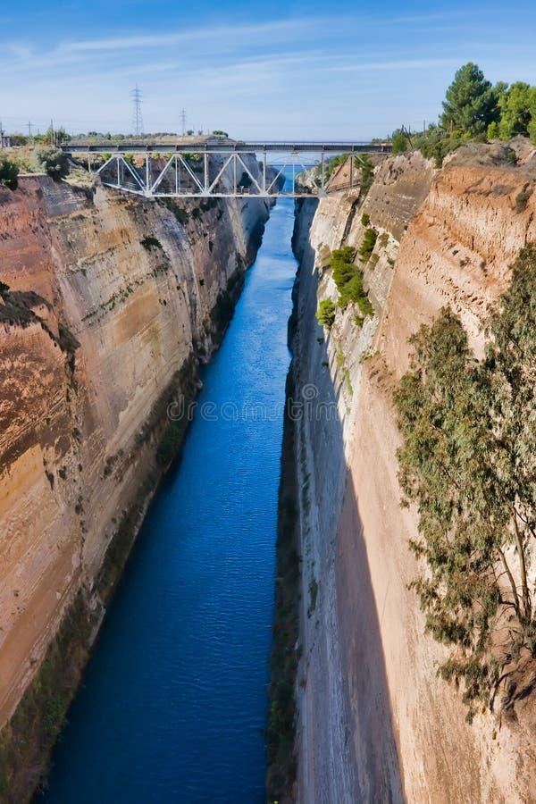 Canal de Corinth imagens de stock