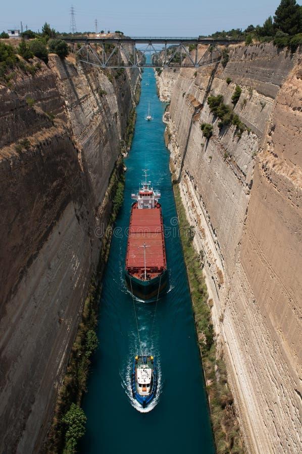 Canal de Corinth foto de archivo