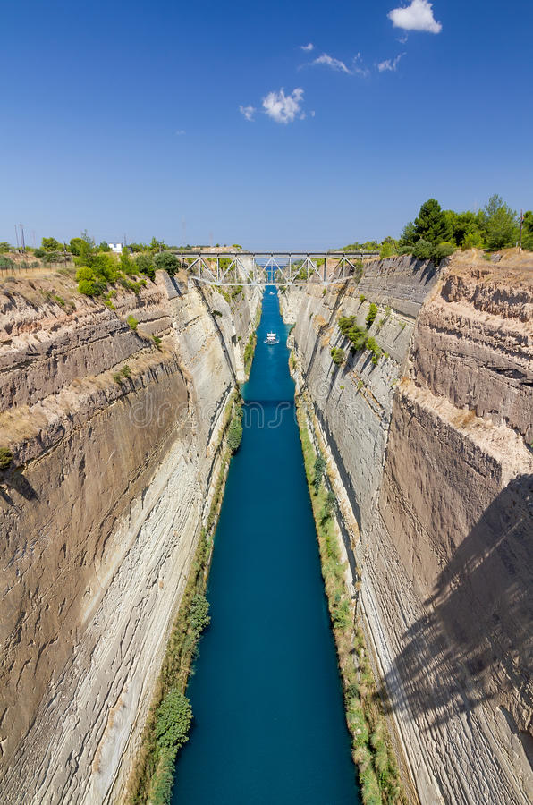 Canal de Corinth, Corinth, Greece fotografia de stock