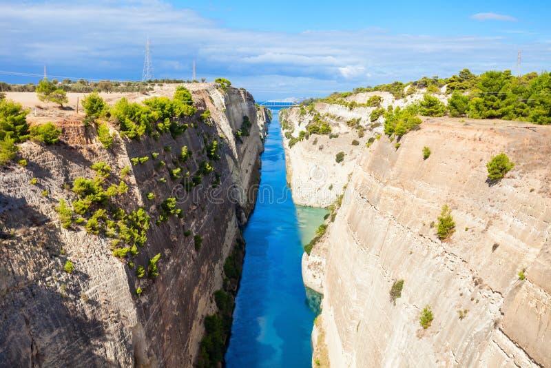Canal de Corinth em Greece imagem de stock royalty free