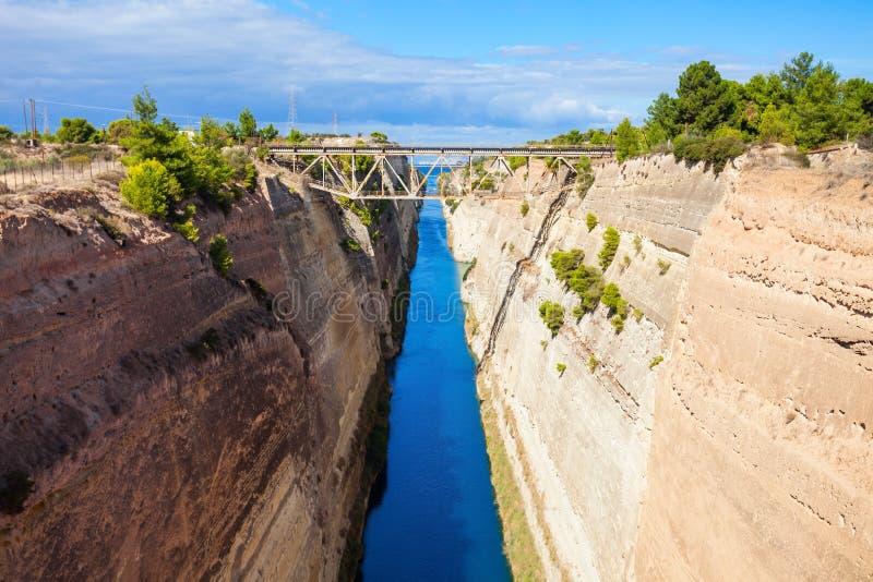Canal de Corinth em Greece imagens de stock royalty free