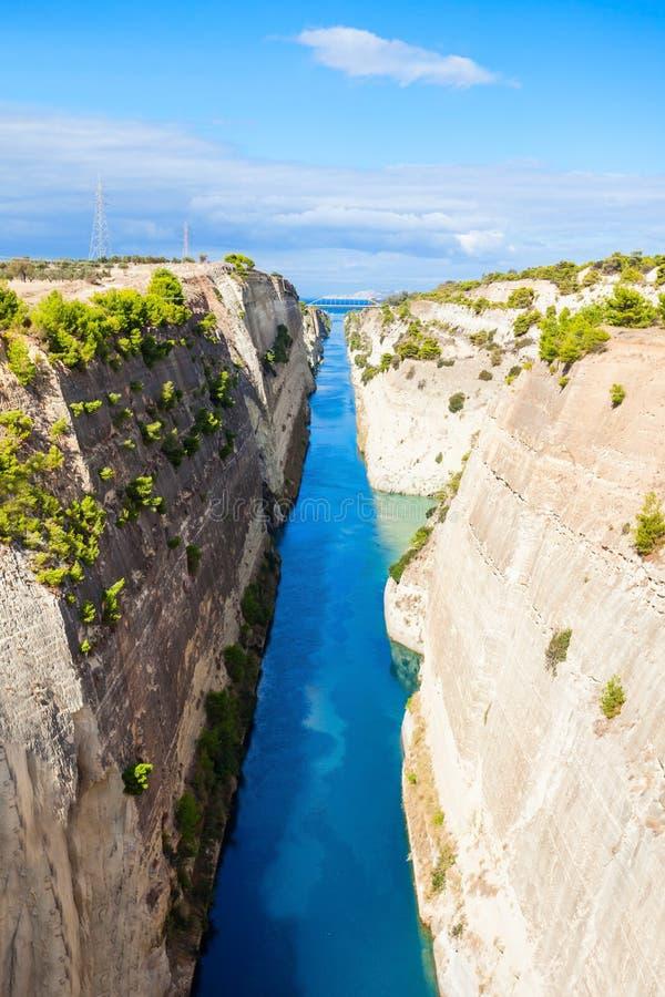 Canal de Corinth em Greece fotos de stock