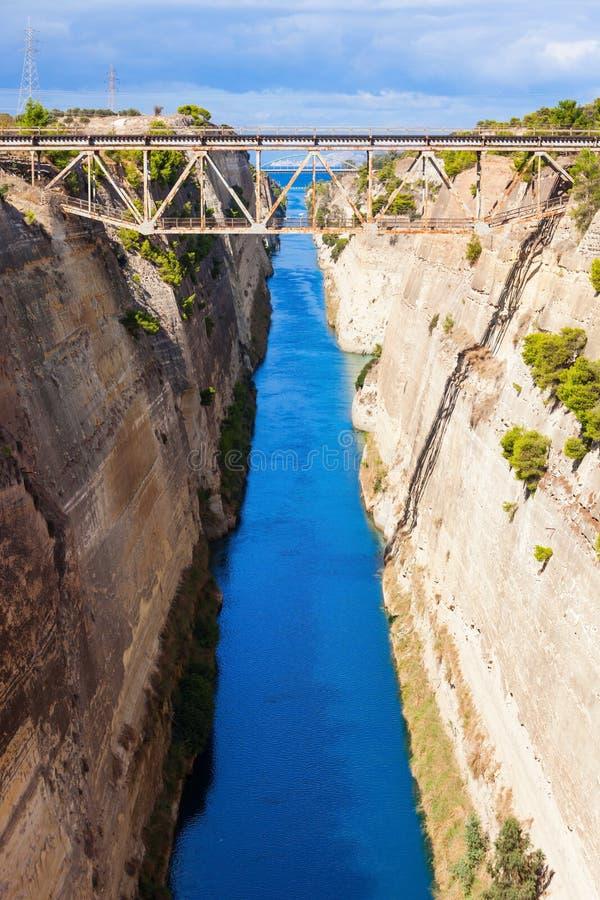 Canal de Corinth em Greece imagem de stock