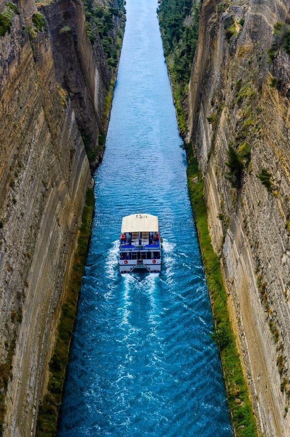 Canal de Corinth em Greece imagens de stock