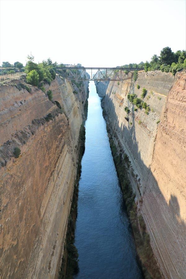 Canal de Corinth, Greece imagem de stock
