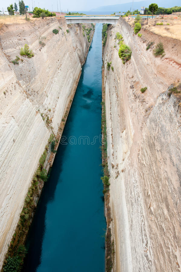 Canal de Corinthe photos libres de droits