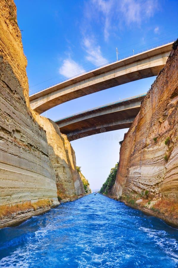 Canal de Corinthe en Grèce photo stock