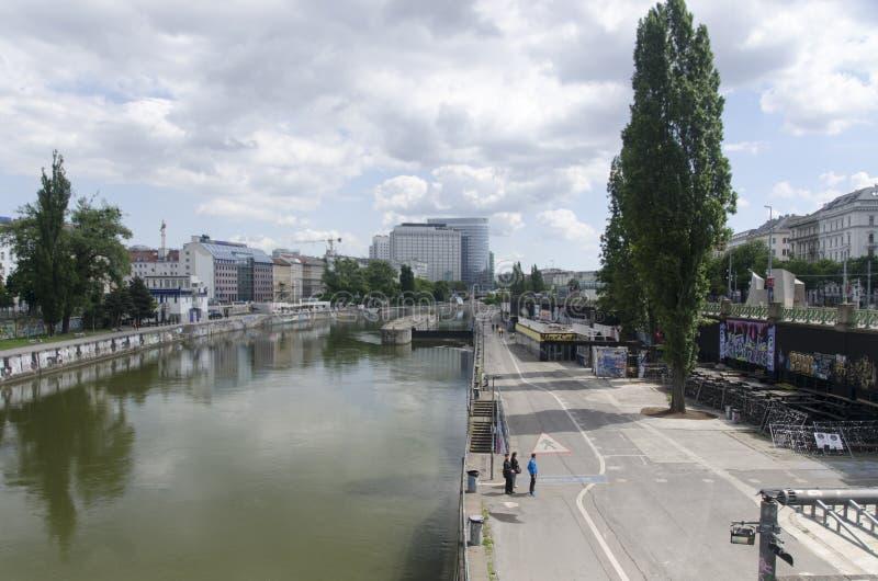 Canal de Danube de Vienne photo libre de droits