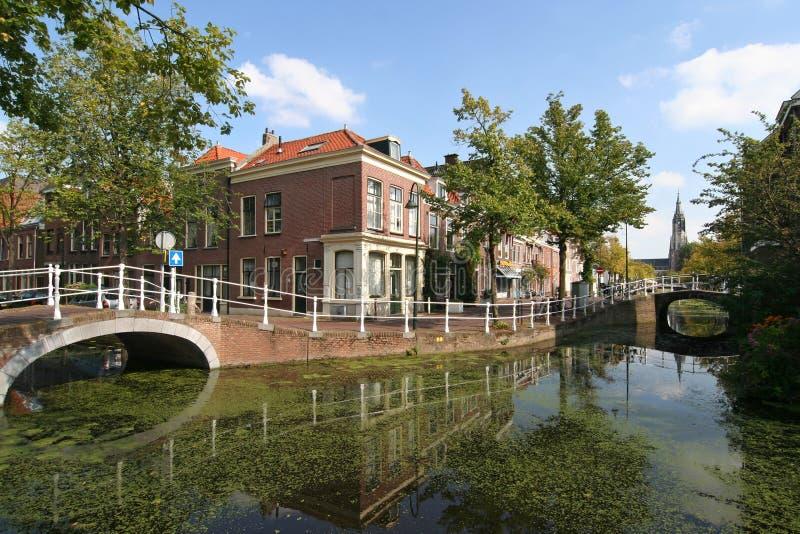 Canal de Delft fotografía de archivo libre de regalías