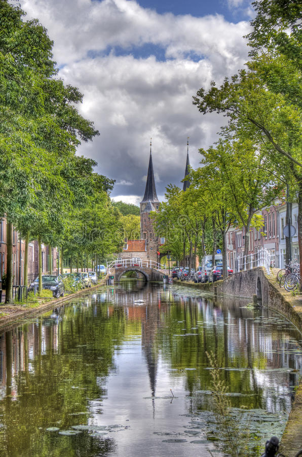 Canal de Delft, Hollande image stock