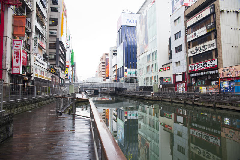 Canal de Dotonbori photo stock