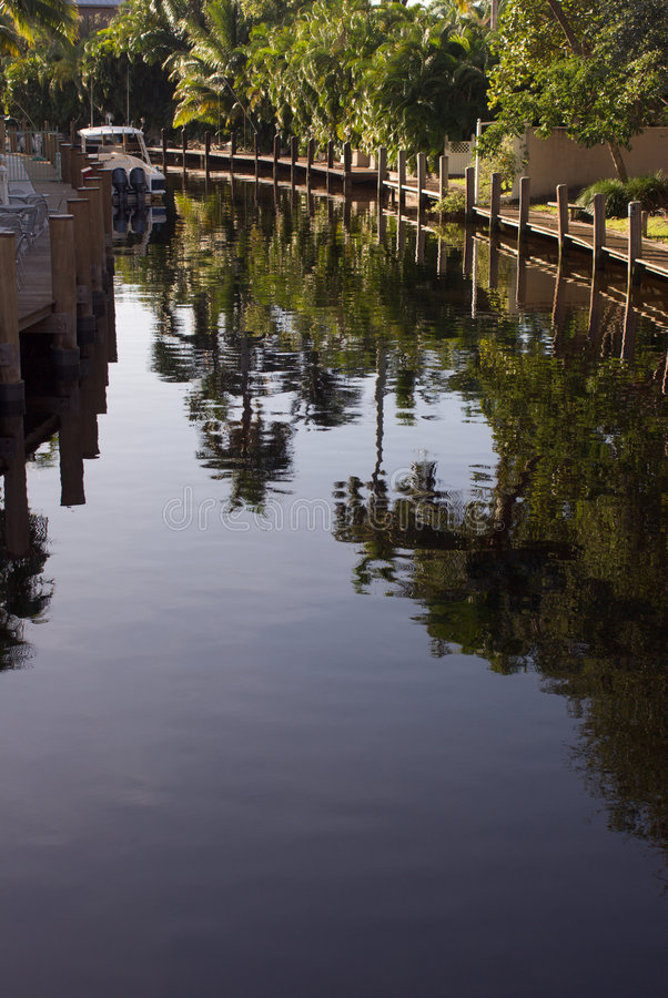 Canal de Florida foto de stock royalty free