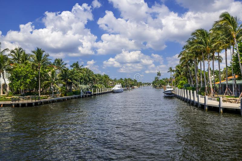 Canal de Fort Lauderdale photo stock