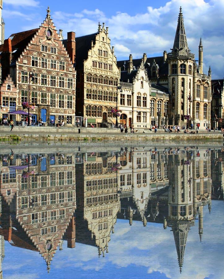 Canal de Gante imagen de archivo libre de regalías