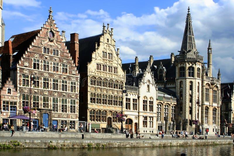 Canal de Ghent imagem de stock royalty free