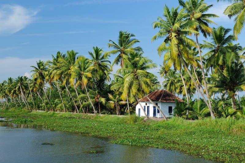 Canal de Kerala fotografia de stock royalty free