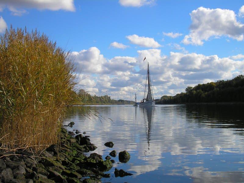 Canal de Kiel foto de stock