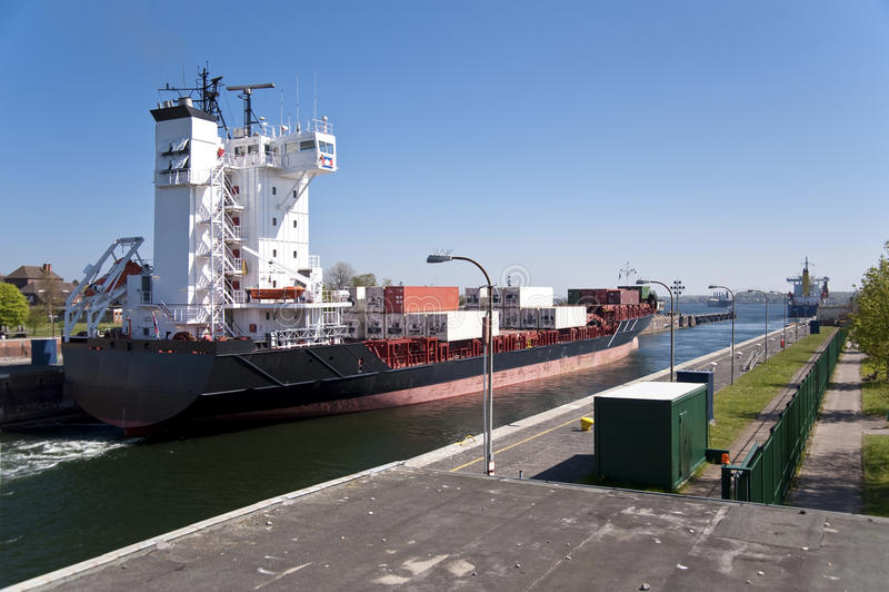 Canal de Kiel fotografia de stock royalty free