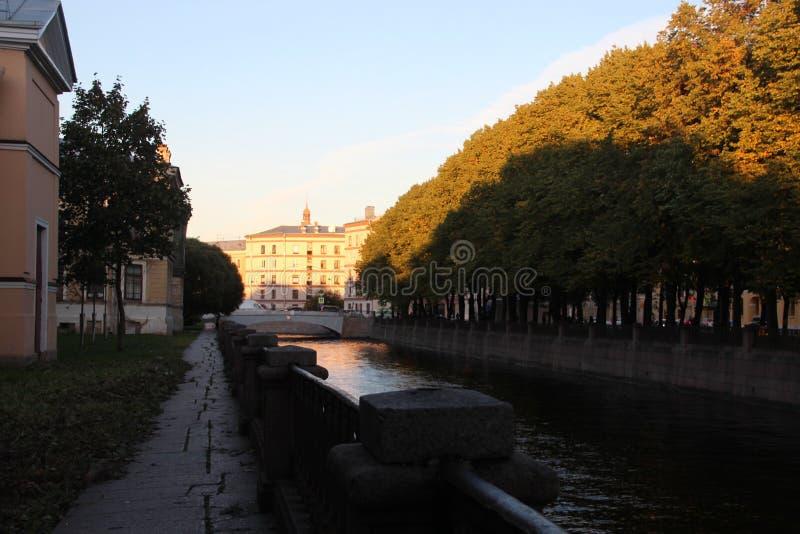 Canal de Krukov de Saint Petersburgo Rússia fotografia de stock