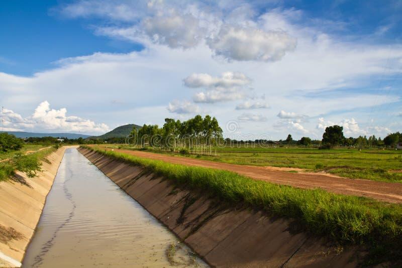 Canal de la irrigación foto de archivo libre de regalías