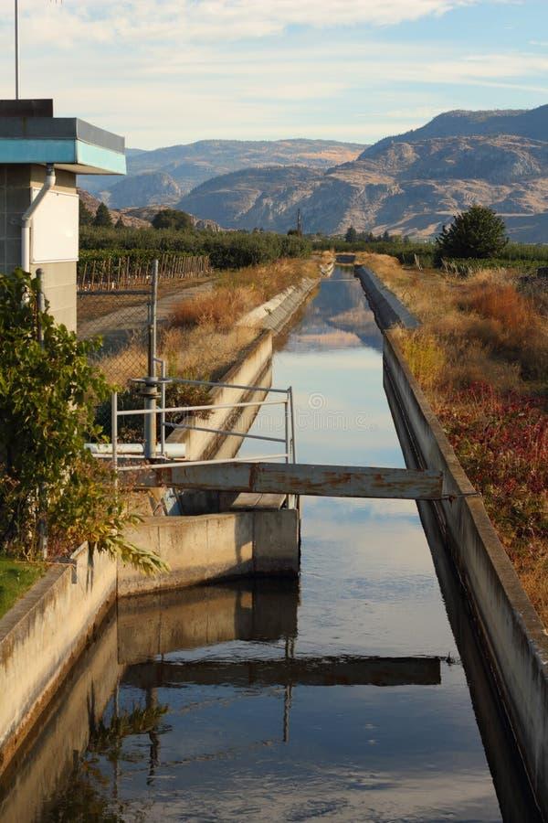 Canal de la irrigación de Okanagan, Columbia Británica fotos de archivo libres de regalías