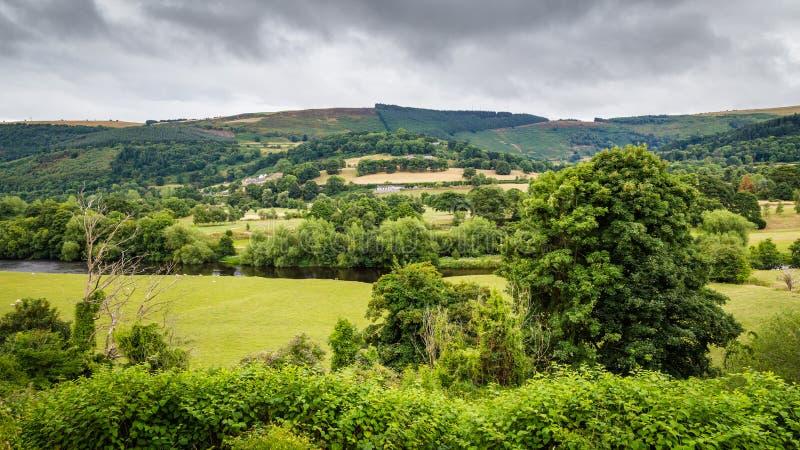 Canal de Llangollen del paisaje, País de Gales, Reino Unido fotografía de archivo