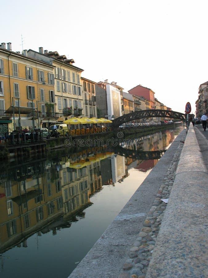 Canal de Milão fotos de stock royalty free