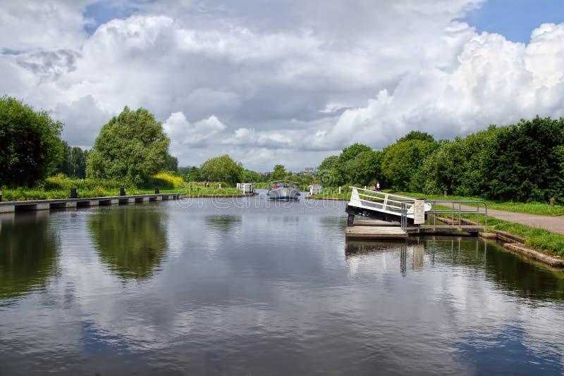 Canal de navio de Exeter foto de stock