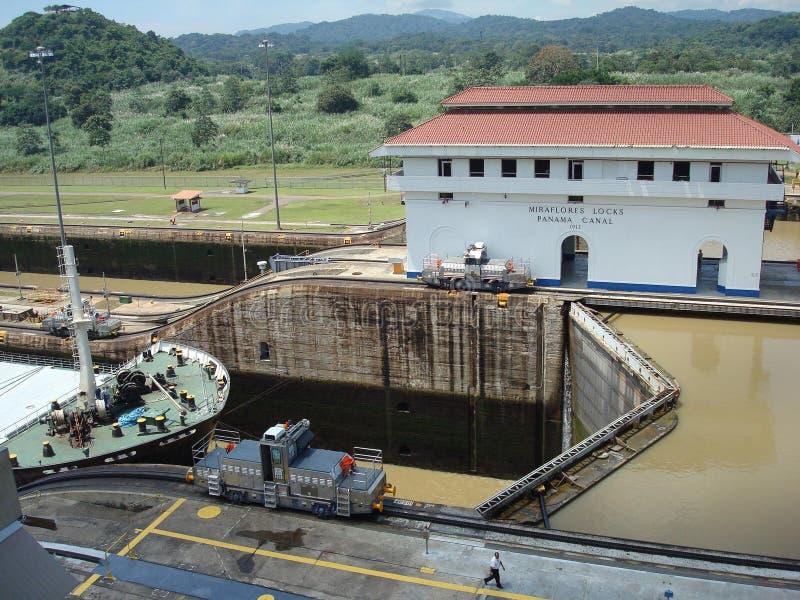 Canal de Panamá foto de stock