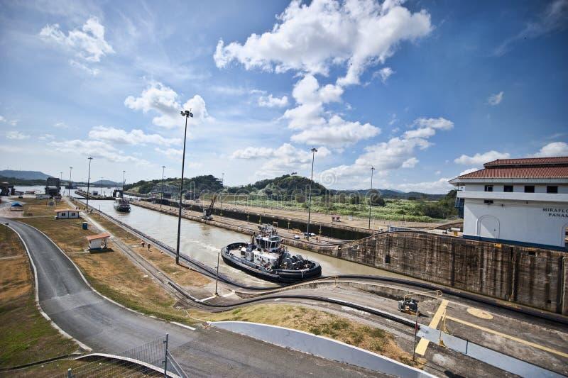 Canal de Panamá foto de archivo