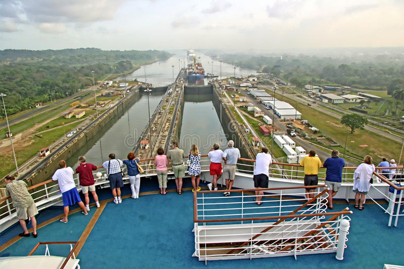 Canal de Panamá fotografía de archivo