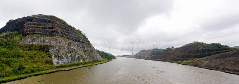 Canal de Panamá escénico imagen de archivo libre de regalías