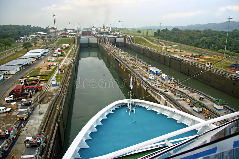 Canal de Panama photo stock
