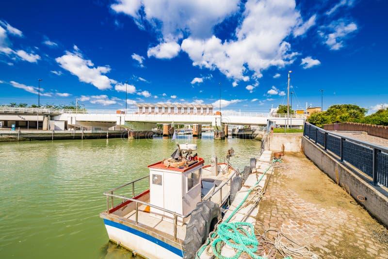 Canal de port image stock