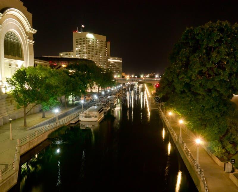 Canal de Rideau à Ottawa, Ontairio, Canada images libres de droits