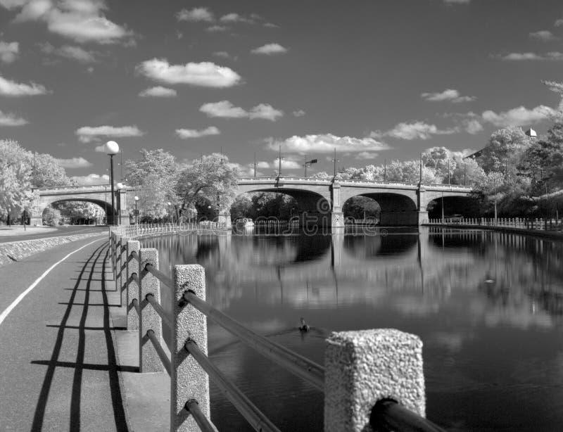 Canal de Rideau em Ottawa imagem de stock