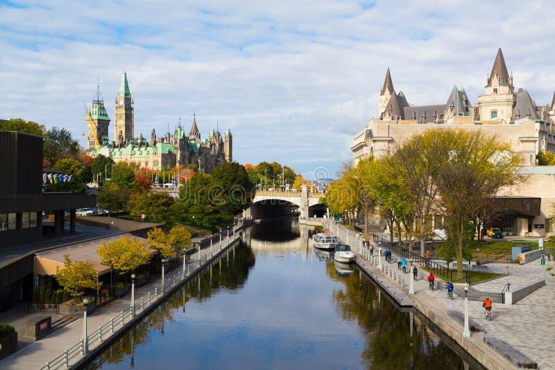 Canal de Rideau - Ottawa imagens de stock royalty free