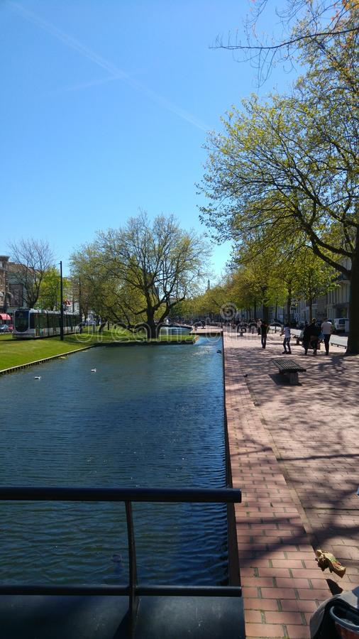 Canal de Rotterdam imagem de stock royalty free